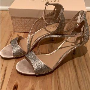 Jewel Badgley Mischka Crystal Embellished Sandal